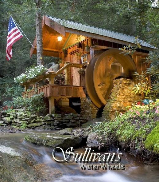 8 Foot Water Wheel On A River In Hendersonville NC Built By Sullivans  Waterwheels And Assembled