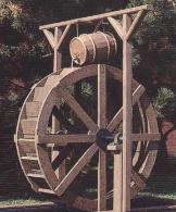 4ft water wheel, Great for smaller garden ponds & landscape