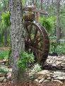 6 foot Water Wheel in Cane Creek NC. the 6ft water wheels are one of our most popular Water Wheel kit sizes. We have ship many of these waterwheels all over the USA. The 6ft water wheel is a great fit anywhere.