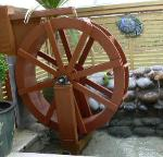 Water Wheel Built in New Zealand from Water Wheel plans