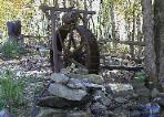 6 foot Garden WaterWheel & Barrel kit in NC. built by Sullivan